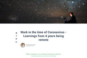 Libryo Blog – Work in the time of Coronavirus